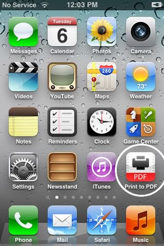 Make pdf with iphone